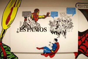 Photograph of painting titled ¿Estamos Unidos?