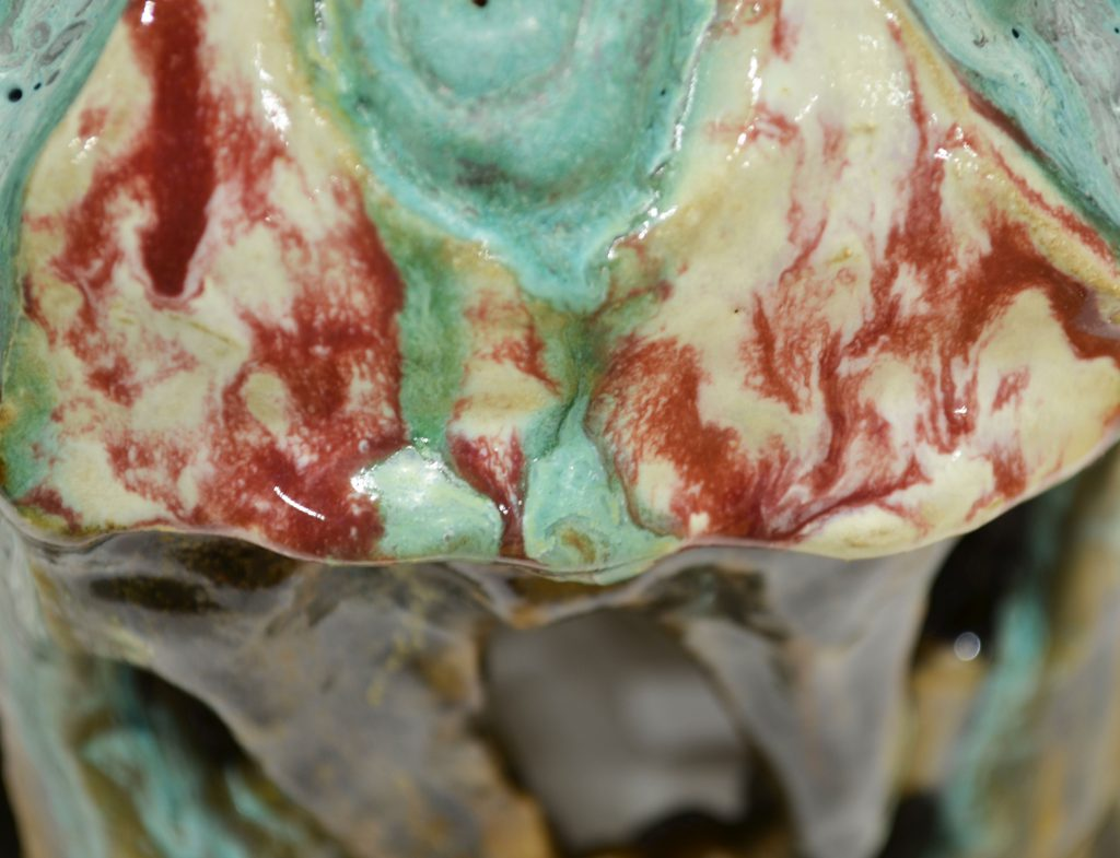 Deteriorate Detail with a focus on glaze