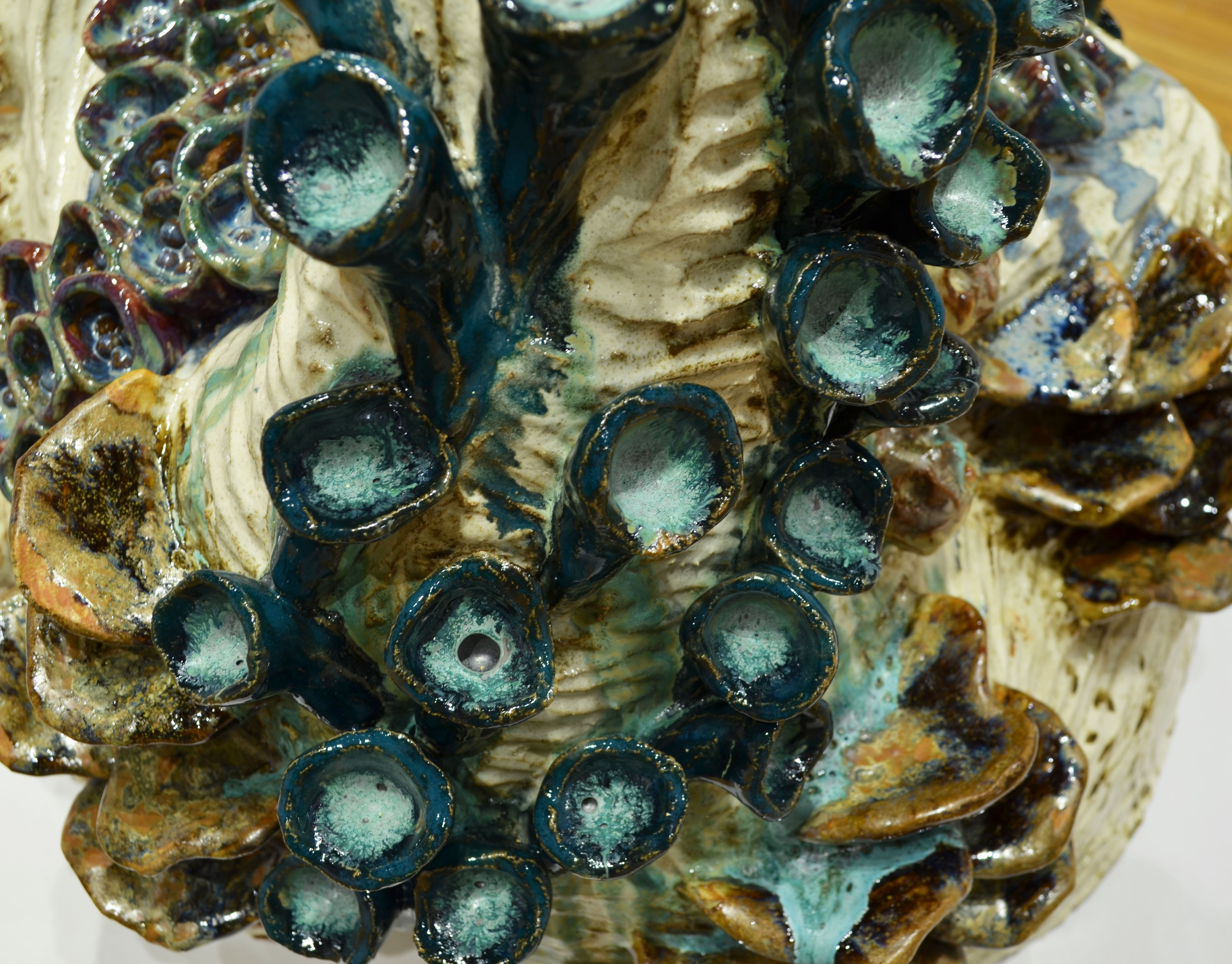 Detail of Fungal Bloom with an emphasis on the tubular structure and the glaze within
